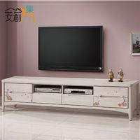 【文創集】泰貝莎 6.9尺白木紋色六抽長櫃/電視櫃