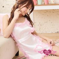 【天使霓裳】甜蜜陷阱 蕾絲滾邊女僕裝角色服 兩件組(白)-GA9095