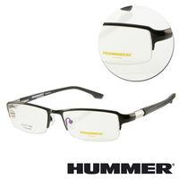 【HUMMER】鈦金屬半框黑色光學眼鏡(H07-30004-C02)