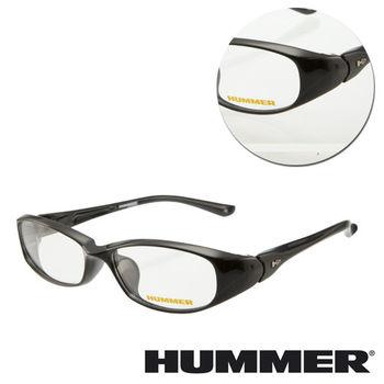 【HUMMER】橢圓亮面黑色光學眼鏡(H3-1000-C1)