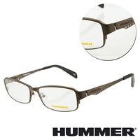【HUMMER】鈦金屬全框棕色光學眼鏡(H1-1005-C3)