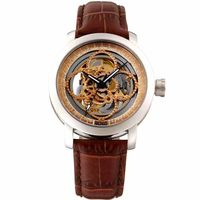 HOGA 騎士勳章鏤雕真鑽機械腕錶-玫瑰金/43mm