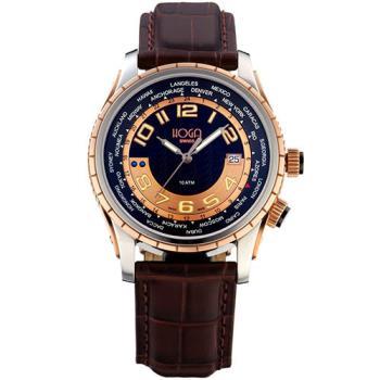 HOGA品味非凡GMT氚氣機械錶-黑-43mm