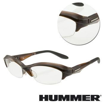 【HUMMER】半框棕色光學眼鏡(V8-901-BR)