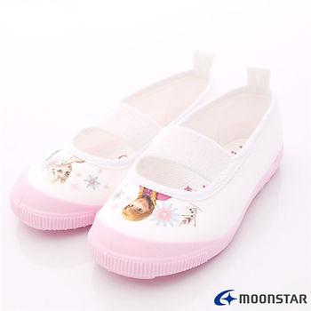 日本Carrot機能童鞋-日本月星頂級童鞋-冰雪奇緣室內鞋-DNF014粉-(14cm-19cm)