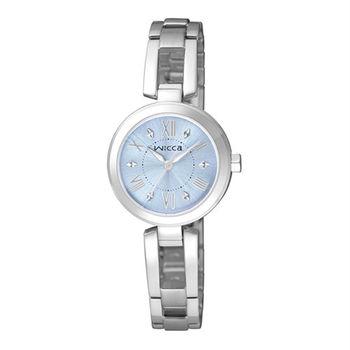 【CITIZEN星辰】wicca 優雅純淨 粉彩時尚手鐲式腕錶-藍/25mm (BG3-911-71)