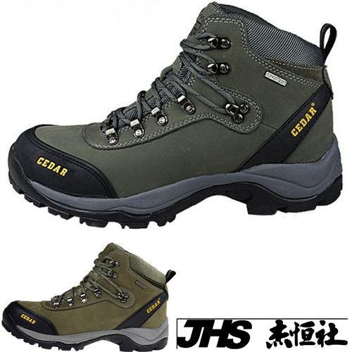 【JHS杰恆社】RAN款001牛皮防水戶外登山露營溯溪健走工裝機車鞋靴休閒皮鞋沙灘鞋(雪松CEDAR)