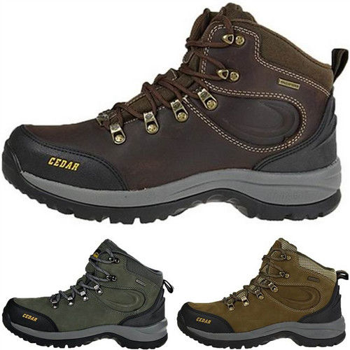 【JHS杰恆社】RAN款131牛皮防水戶外登山露營溯溪健走工裝機車鞋靴休閒皮鞋沙灘鞋(雪松CEDAR)