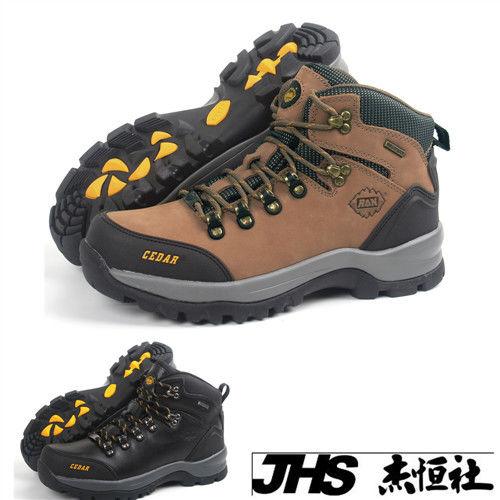 【JHS杰恆社】RAN款056牛皮防水戶外登山露營溯溪健走工裝機車鞋靴休閒皮鞋沙灘鞋(雪松CEDAR)