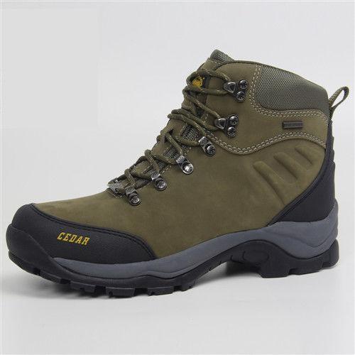【JHS杰恆社】RAN款936牛皮防水戶外登山露營溯溪健走工裝機車鞋靴休閒皮鞋沙灘鞋(雪松CEDAR)