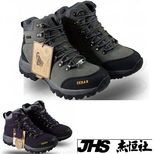 【JHS杰恆社】RAN款636牛皮防水戶外登山露營溯溪健走工裝機車鞋靴休閒皮鞋沙灘鞋(雪松CEDAR)