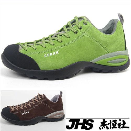 【JHS杰恆社】RAN款033牛皮防水戶外登山露營溯溪健走工裝機車鞋靴休閒皮鞋沙灘鞋(雪松CEDAR)