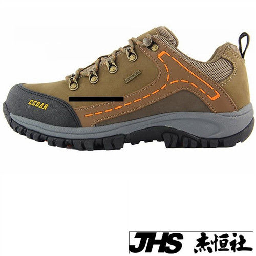 【JHS杰恆社】RAN款223牛皮防水戶外登山露營溯溪健走工裝機車鞋靴休閒皮鞋沙灘鞋(雪松CEDAR)
