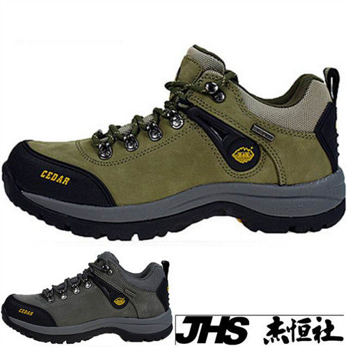 【JHS杰恆社】RAN款123牛皮防水戶外登山露營溯溪健走工裝機車鞋靴休閒皮鞋沙灘鞋(雪松CEDAR)