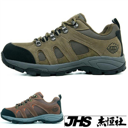 【JHS杰恆社】RAN款023牛皮防水戶外登山露營溯溪健走工裝機車鞋靴休閒皮鞋沙灘鞋(雪松CEDAR)