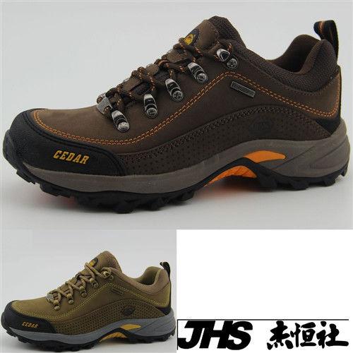 【JHS杰恆社】RAN款913牛皮防水戶外登山露營溯溪健走工裝機車鞋靴休閒皮鞋沙灘鞋(雪松CEDAR)
