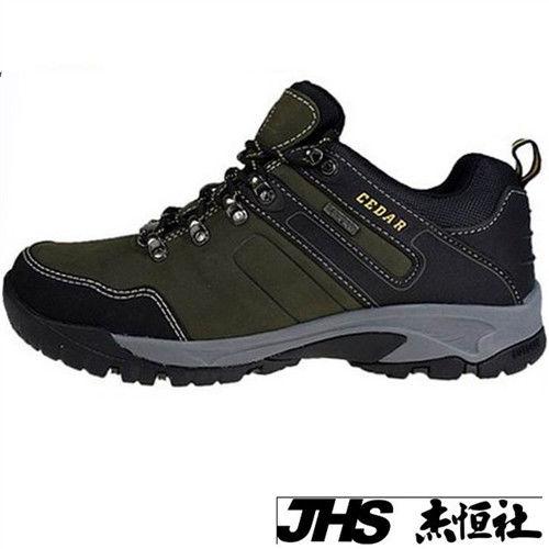 【JHS杰恆社】RAN款613牛皮防水戶外登山露營溯溪健走工裝機車鞋靴休閒皮鞋沙灘鞋(雪松CEDAR)