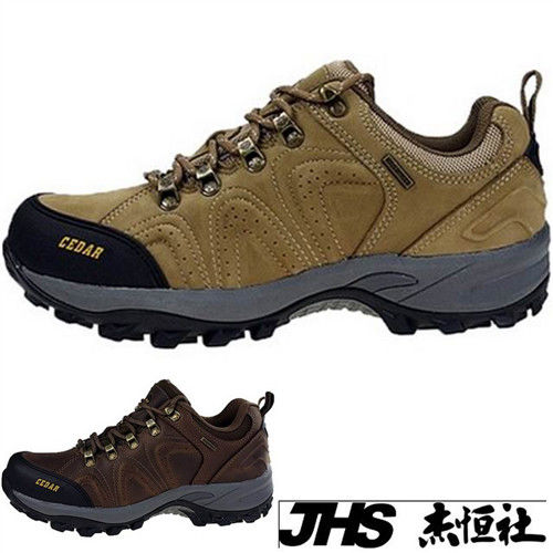 【JHS杰恆社】RAN款213牛皮防水戶外登山露營溯溪健走工裝機車鞋靴休閒皮鞋沙灘鞋(雪松CEDAR)