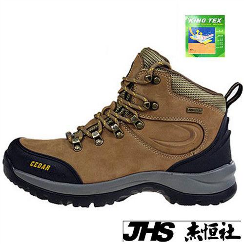 【JHS杰恆社】RAN款131kingtex全防水襪套牛皮防水戶外登山露營溯溪健走工裝機車鞋靴休閒皮鞋沙灘鞋(雪松CEDAR)