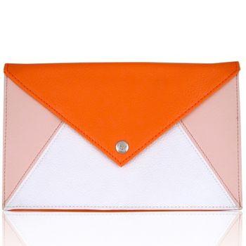 CLINIQUE x Chloe 聯名 化妝包-信封包 (橫長21cm.直高13cm.邊寬1cm)