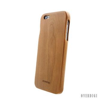 OVERDIGI Mori iPhone6(S) plus 全天然木料保護殼 櫻桃木-行動