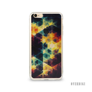 OVERDIGI CANVAS iPhone6(S) 雙料全包覆保護殼 幾何彩格紫
