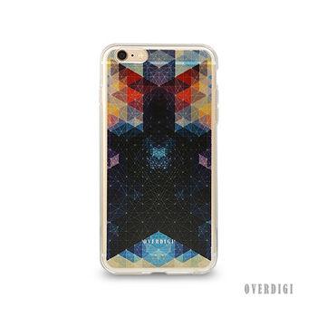 OVERDIGI CANVAS iPhone6(S) 雙料全包覆保護殼 幾何彩格湛藍