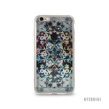 OVERDIGI CANVAS iPhone6(S) 雙料全包覆保護殼 幾何彩格灰-行動