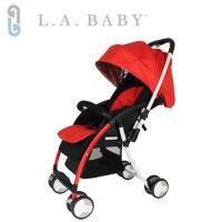 美國 L.A. Baby  超輕量雙向全罩嬰幼兒手推車 Travelight Baby Stroller (紅色)