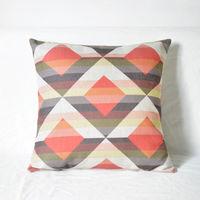【協貿】簡約現代幾何風格英倫抽象棉麻菱形抱枕含芯