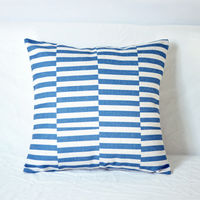 【協貿】文藝復古波浪格子棉麻B款方形抱枕含芯