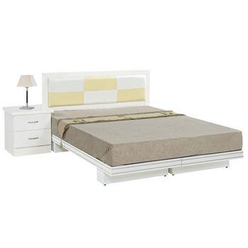 【時尚屋】[G16]金格5尺純白雙人床G16-069-13+070-2不含床頭櫃-床墊