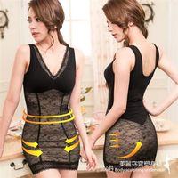 【伊黛爾】360丹美麗窈窕輕薄蕾絲彈力網布塑身裙 M-XXL(黑色)