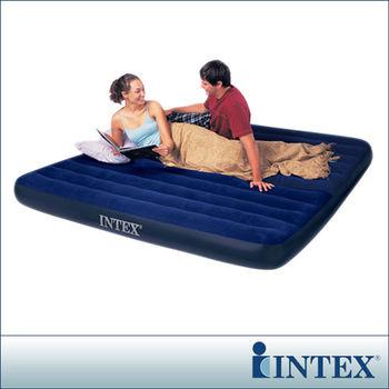 【INTEX】雙人超大型植絨充氣床墊(寬183CM) (68755)-行動