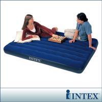 【INTEX】雙人加大植絨充氣床墊 (寬152cm)  (68759)-行動