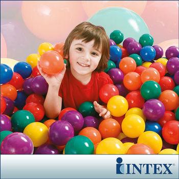 【INTEX】100顆遊戲球-直徑8cm (49600)
