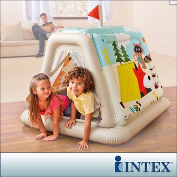 【INTEX】幼童款-室內帳篷/充氣式遊戲帳篷 (48634)-行動