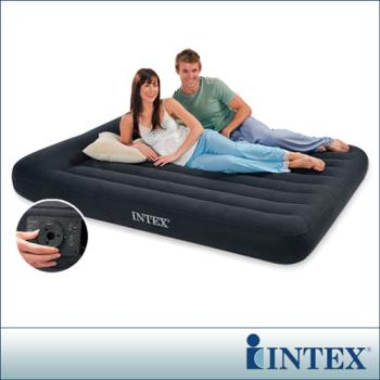 【INTEX】舒適型內建電動幫浦充氣床墊-雙人加大寬152cm-有頭枕 (66777)