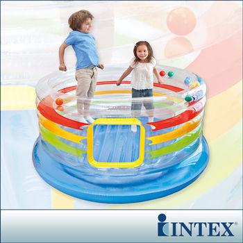 【INTEX】兒童跳跳床-多彩圓型-寬182cm (48264)