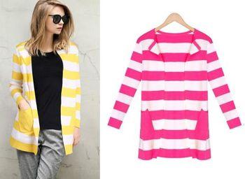 (現貨+預購 RN-girls)-簡單款條紋好搭四季針織外套