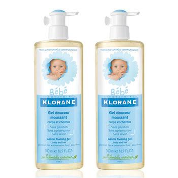 【KLORANE BeBe蔻蘿蘭寶寶】寶寶洗髮沐浴精(500ml x2)