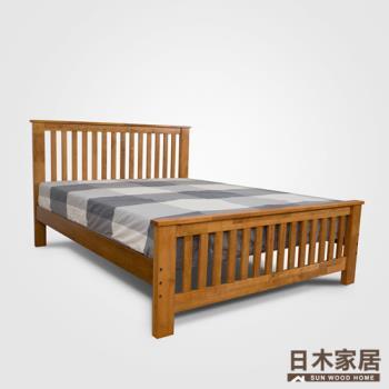 日木家居 Duane杜安雙人5尺實木床架