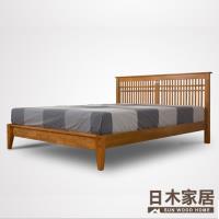 【日木家居】Peggie貝琪雙人5尺實木床台/床架