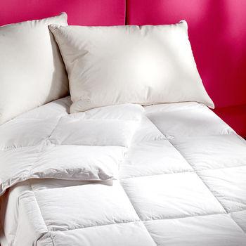 法式寢飾花季 輕暖羽絨系列(10%羽絨枕*1+50%羽絨被*1)