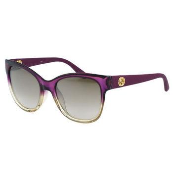 GUCCI-低調復古系列 太陽眼鏡(紫色)