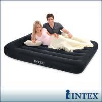 INTEX《舒適型》雙人植絨充氣床墊(寬137cm)-有頭枕 (66768)-行動