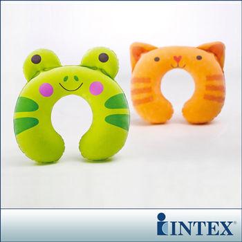 【INTEX】充氣護頸枕-動物造型隨機出貨 (68678)