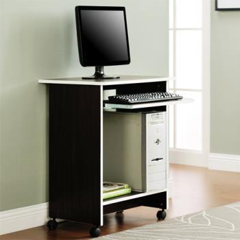 【咱的厝】DIY輕巧附鍵盤架電腦桌/工作桌/書桌(胡桃色)
