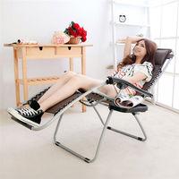 【LIFECODE】特斯林透氣無限段折疊躺椅-附置物杯架 (咖啡色)-行動