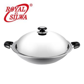 皇家西華日式黃金鑄造不鏽鋼雙耳炒鍋39cm